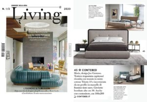 MARIE Bed, design by Joe Garzone on LIVING    Feb 2020