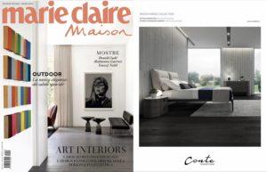 Conte Bed on Marie Claire Maison Italia || March 2020
