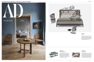 MARIE Bed _ design Joe Garzone on AD Italia