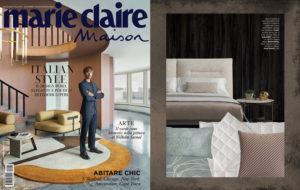 KENSINGTON Bed, design Joe Garzone on Marie Claire Maison Italia