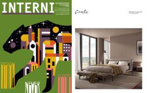 DOMINICK bed, design Enrico Cesana on INTERNI || June 2021